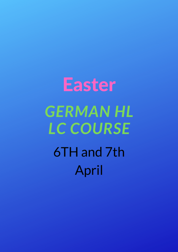 Easter German HL LC COURSE