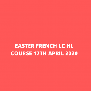 Easter hl lc french course