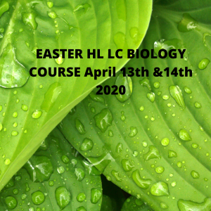 Easter Biology HL LC COURSE